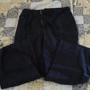 Gap Wide Leg Linen Pants 8 Short